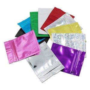 8.5*13см 500шт красочный мешок алюминиевой фольги с застежкой-молнией плоский пакет сумки Ziplock Self Seal Mylar Foil мешок для хранения кофейных специй