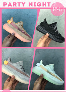 Kids V2 Clay True Form Hyperspace Designer Estático Calçados Esportivos Kanye West Tan / Pinish Cinza Crianças Meninos Meninas Runner Sneakers