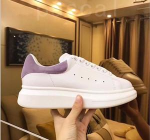 2020 zapatos de las zapatillas de deporte de la plataforma mujeres de los hombres de la moda de triple negro de gamuza de cuero para hombre blanca del zapato casual plana cómoda