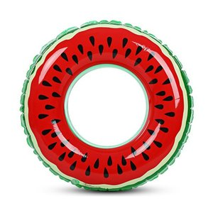 2020 New Watermelon Inflatable Adult Children Swimming Ring Inflatable Pool Float Circle For Adult Children Hot
