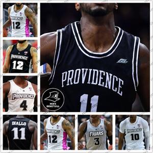 العرف 2020 بروفيدانس الرهبان كرة السلة 11 ألفا ديالو 3 ديفيد ديوك 12 Luwane Pipkins أسود رمادي أبيض وردي الرجال الشباب كيد الفانيلة 4XL