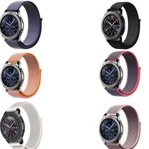 20 22мм нейлон лента для Samsung Galaxy часов 42 46 активного Механизма S3 s2 ремня галечного времени Ticwatch 1 2 Е про ZenWatch wrsitband