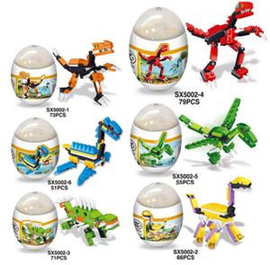 Jurassic Park Minifigures Regalo sorpresa de dinosaurio en Huevos de dinosaurio Mini Figuras Bloques de construcción Juegos Juguetes para niños Ladrillos