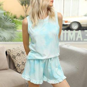 Gratuit pour Dhl Pyjama Tiedye pour femmes pyjama Korte Ensembles Met Ronde Hals En Tie-Dye Tie Dye Alien shirt gris Aimant sqtrimmer tOEvJ