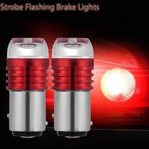 100pcs lumière flash stroboscopique 1156 BA15S 1157 led BAY15D P21 / 5W frein clignotant lampe ampoule 12v rouge blanc bleu stop lumière arrière