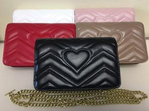 Yüksek Kalite Moda cüzdan Kadınlar Pu Deri Küçük Altın Zincir Çanta Çapraz vücut Çanta Omuz Messenger Çanta 20cm handbags