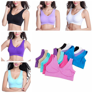 Sexy Underwear Ladies Seamless Bra 9 Colors Sports Bras Yoga Bra Pullover Bra Body Shape Cycling Underwears 6 Sizes CCA12256 300pcs