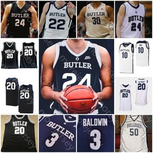 Personalizzato Butler Bulldogs Basketball Maglia NCAA College Kamar Baldwin Bryce Nzé Sean McDermott Tucker d'oro Khalif Battaglia Thompson Hayward