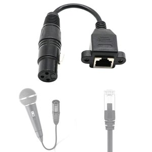15cm XLR 3 Pin Female To RJ45 Female Network Connector Adapter Converter Cable