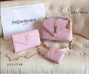 top 3pcs de qualité fixés dames de fleurs womens design classique fourre-tout composite sacs à bandoulière embrayage en cuir PU sac à main femelle 14