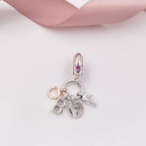 Authentique Argent 925 Perles Meilleurs amis pour toujours Dangle Charm Charms bijoux européens Fits Pandora style Bracelets Collier 788165