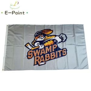 Echl Greenville Sumpfkaninchen Fahnen 3 * 5ft (90 cm * 150 cm) Polyester Banner Dekoration Fliegen Hausgarten Festliche Geschenke