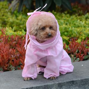 Пылезащитный щенок кошка толстовки защитные костюмы чистый цвет уздечка собака изоляция одежда одноразовые Pet одежда горячая распродажа 12qs E19