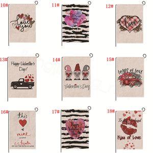 18styles Ostern glücklich Leinen Banner Garten Flagge Valentins Indoor Outdoor Party Decor Requisiten Kaninchen Festival Druckfahnen 47 * 32CM FFA3451