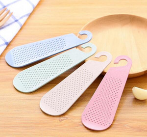 Manuale delle piastre paglia di grano Ginger Aglio grattugia Wasabi Grinding Aglio Presse Strumenti cucina gadget Accessori Prodotti alimentari