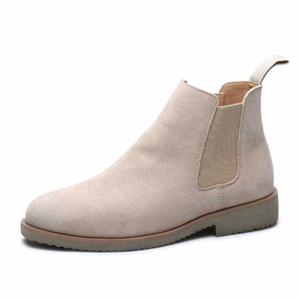 Vendita calda-nuovo arrivo stivali da uomo slip-on in vera pelle scarpe punta a punta stivaletti comodi stivaletti utensili botas uomo