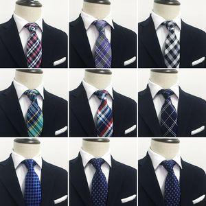Men Ties with Hankies Fashion Designer Tailor Dot Cravat Pocket Set quality Luxury Woven Necktie with Handkerchief set