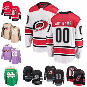 Custom Ice Hockey Dougie Hamilton Jersey Carolina Hurricanes 74 Jaccob Slavin 71 Lucas Wallmark Brock McGinn Martinook St Patricks Day