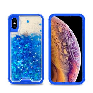 Per LG Stylo 5 4 K40 K12 Aristo 3 Plus Liquid Quicksand Design Acqua Glitter Bling galleggiante colorato Triple Combo Case Cover