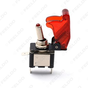 5x Tampa Motorcycel Carro Vermelho LED SPST Alternar Controle Rocker Switch 12 V 20A On Off # 2450