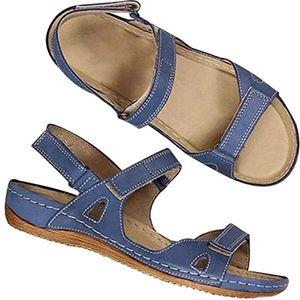 Femmes Posh Gladiator Sandal Comfy Leopard Thong Sandales Vintage Cutout Casual Retour Zip Chaussures clip-Toe talon plat 03