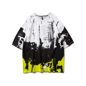 타이 염색 티셔츠 남성 2020 새로운 여름 크루 넥 남성 티셔츠 힙합 티 셔츠 스트리트 의류 M L XL XXL