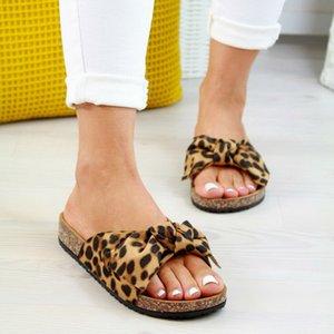 Summer Womans Slip On Sliders Bow Flatform Mule Sandals Comfy Shoes Plus Sizes Indoor Outdoor Flip-flops Beach Shoes