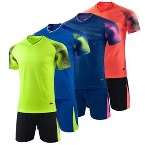 어린이 축구 유니폼 남성 남자 축구 옷 짧은 소매 어린이 축구 유니폼 성인 스포츠 축구 운동복 저지를 설정합니다