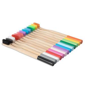 لون خشبي فرشاة الأسنان حماية البيئة الطبيعية الخيزران فرشاة الأسنان عن طريق الفم العناية لينة الشعر الخشن مع صندوق شحن مجاني