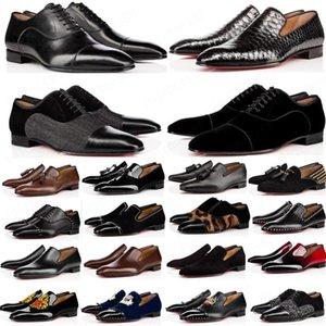 موضة الأحمر أحذية القاع Greggo Orlato شقة جلد طبيعي أكسفورد أحذية رجل إمرأة المشي شقق حفل زفاف متعطل 38-47
