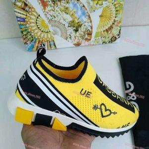xshfbcl marque progettista Women Men Graffiti Print Fabric Sorrento Slip-on Breathable Sneaker Two-tone Rubber Micro Sole Casual Shoes