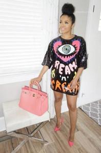سيدات الأزياء اللباس الرسمي الفساتين المصغرة المصممات الفساتين Tshirt الفساتين خط السراويل الصيف فضفاضة