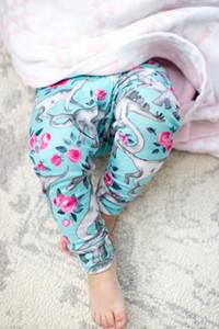 Kid recién nacido niña de niño de dibujos animados pantalones inferiores Harem Leggings pantalones pantalones pantalones pudcoco 2018 muchacha del muchacho de los niños del niño del bebé