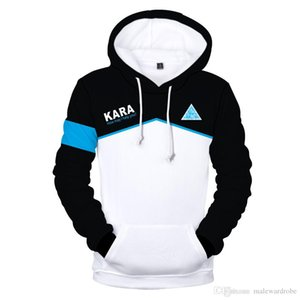 Become Human 3D Mens Sweatshirts Winter Warm Hooded Hoodies Designer Clothig