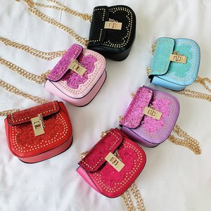 Kid Mini Handbag 2020 New Glitter Sequin Crossbody Bags for Baby Girl Small Coin Wallet Pouch Box Kids Party Purse Bag Gift