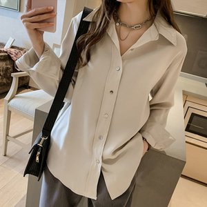 Long-Sleeved Shirt Women Spring 2020 New Korean Loose Design Niche Chiffon Shirt Retro Hong Kong Flavor Shirt SRY XSQ gunn