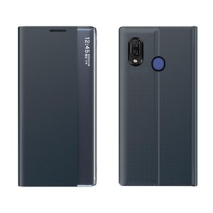 For Huawei P30 Pro Side Window Display Comes with Sleep Function   Stand Plain Cloth Flip Phone Case