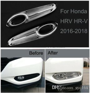 Chrome Front Fog Light Lamp Frame Cover Trim Strip For Honda HRV HR-V 2016-2018