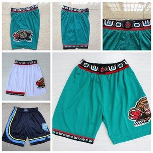 De los hombresMemphisNBAGrisáceos Ja 12 Morant Ciudad Pantalones cortos de baloncesto Mike Bibby vendimia Vancouver malla transpirable Classic Gym Pantalones cortos