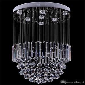 Moderne Kristalldeckenleuchter-Beleuchtung runden Kristall Pendelleuchte GU10-Beleuchtungskörper mit Crystall Ball Tube AC110-240V