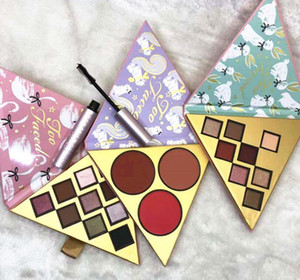 DHL free New Faced Christmas set Under the Christmas Tree contains Two eyeshadow set and One blush set with better than sex mascara