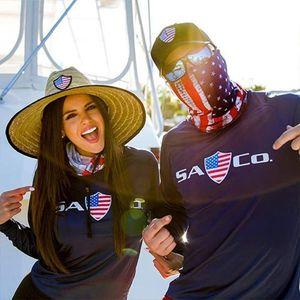 PM 2.5 Filtro Mágico Máscara bufandas EE.UU. bandera de impresión al aire libre de la cara de la bufanda turbante cuello Cycling Bandanas Protegerse del Sol LJJA4079 Máscara