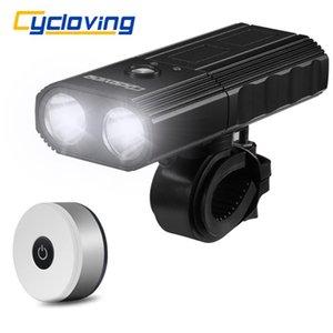 Cycloving Fahrradlicht 2LED 2200Lums Fahrradbeleuchtung wasserdicht IPX3 Energien-Bank 4000mAh und neuere Licht Fahrrad Schwanz Zubehör