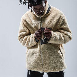 Homens Mulheres Revestimento do velo Hip Hop Streetwear Corredores Sólidos bolso com zíper Tops Casacos Brasão Clothes