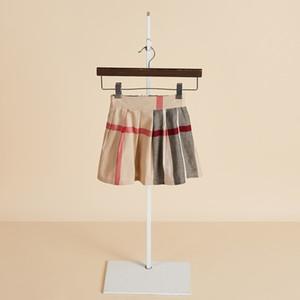Новые летние детская одежда для девочек юбки колледж Ветер детские плиссированные юбки хлопка упругие талии девушки юбка