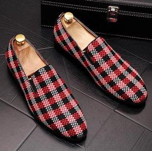 Luxury Fashion Men Dress Shoes Pointed Toe Bullock Oxfords Shoes Designer Brand Men Party Wedding Shoe W112