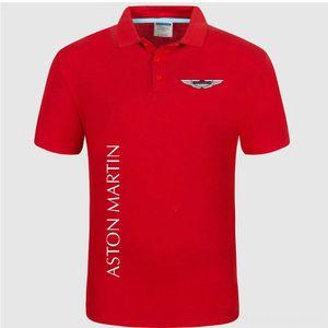 Summer Polo Shirt Aston Martin logo Brand Mens Men's Tees & Polos Men's Clothing Fashion Cotton Short Sleeve Polo Shirts Solid Jersey Tops T