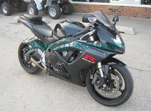 Set di carenatura ABS per Suzuki GSXR600 750 2006 2007 GSXR 600 GSXR 750 K6 06 07 Gloss Black Fairings Kit Gifts SP28