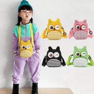 Les nouveaux enfants de style coréen belle bande dessinée de hibou sac animal sacs de messager de sac à bandoulière bébé pièces de sac à main sac de gros sac à main enfants