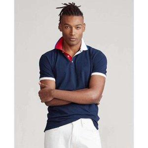 hombre big top Men Short sleeve horse Shirt camisa embroidered homme masculine mens horse shirt eden park